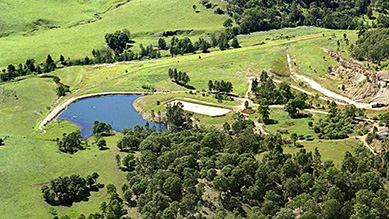A property containing a dam near mining operations