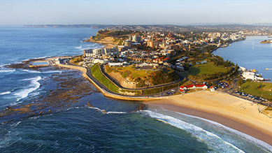 Aerial view of Newcastle
